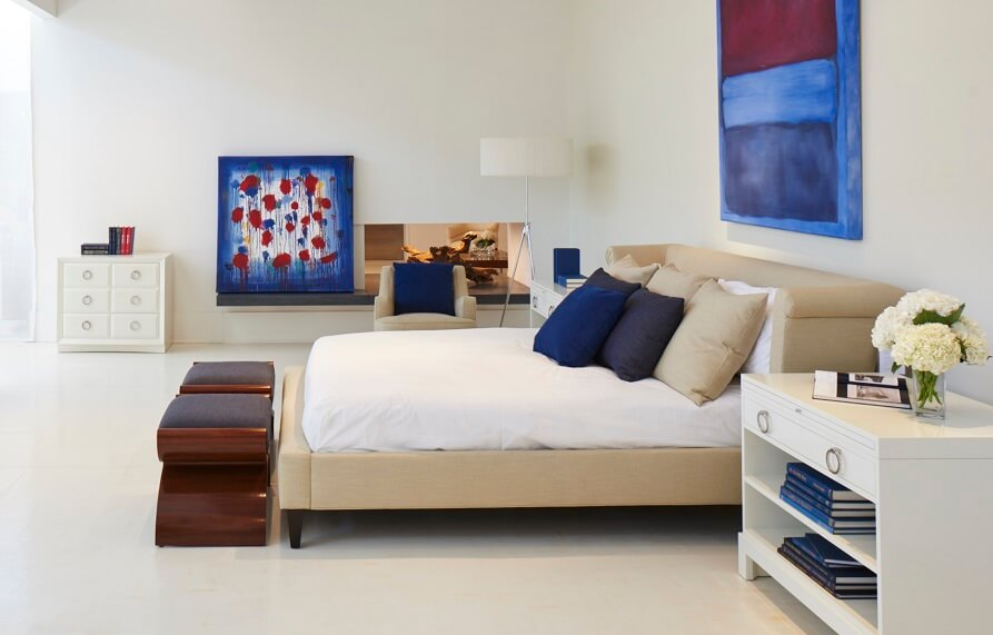 Modern Luxury Upholstered King Bed (No Footboard)