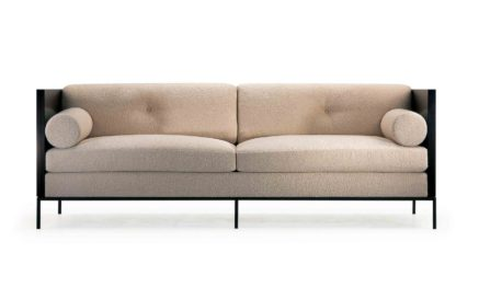 Domicile Ebony Sofa with Bolster