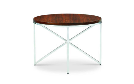 Domicile Side Table with Wood Top