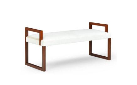 Modern Metropolis Sled Bench