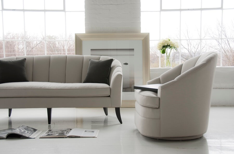 Modern Luxury Swivel Club Armchair