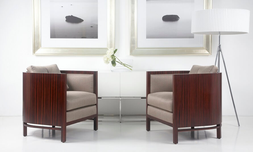 Domicile Curved Back Lounge Chair