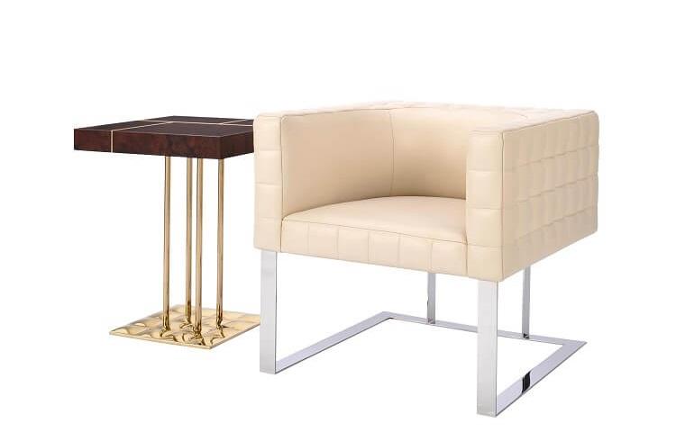 Cosmopolitan E.E. Tufted Cube Chair