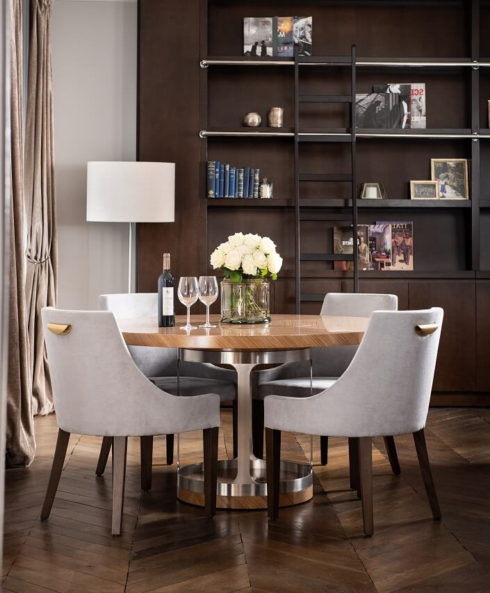 Inversion Arche Dining Table (with Inset Lazy Susan)